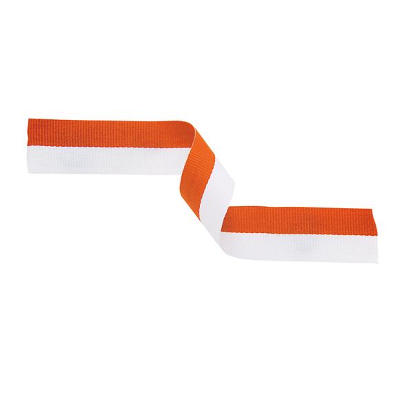 Orange and White Ribbon