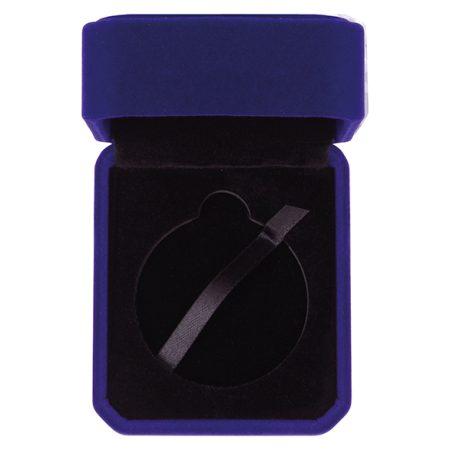 Aspire Blue Velour Medal Box 50 mm