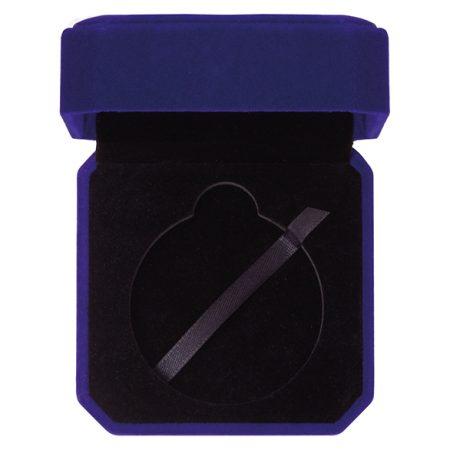 Aspire Blue Velour Medal Box 60 mm