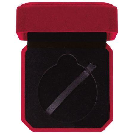 Aspire Red Velour Medal Box 60 mm